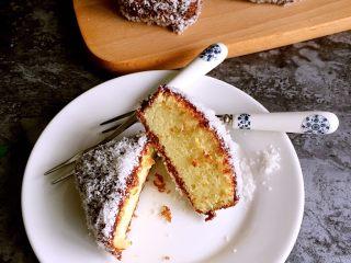 巧克力林明顿蛋糕,成品