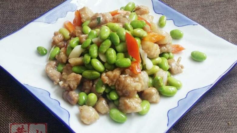 毛豆炒肉丁