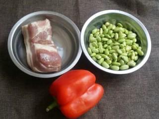 毛豆炒肉丁,原料图片