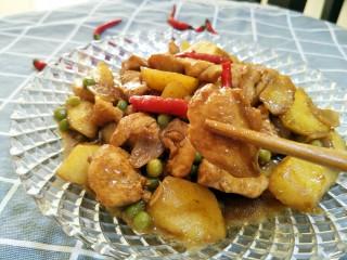 土豆炖鸡肉,配上米饭🍚开吃就行了😊鸡肉嫩滑,土豆都是沙沙的。