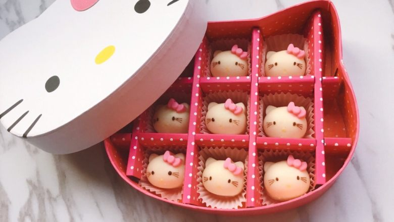 Hello kitty凯特猫巧克力#DIY巧克力#