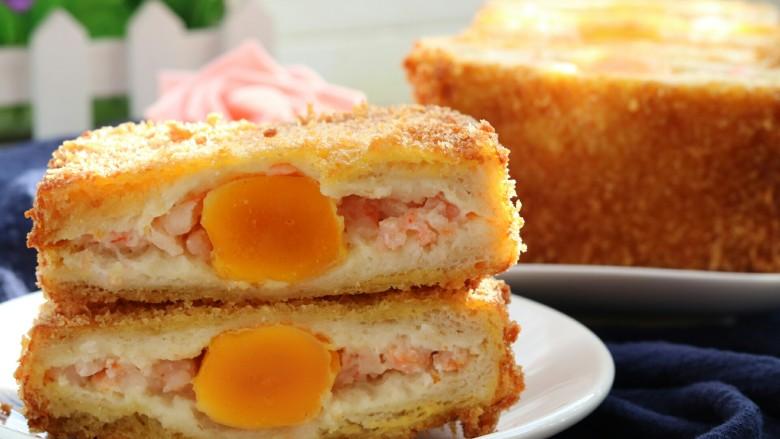 土司蛋黄虾