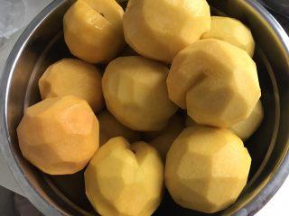 黄桃罐头,黄桃去皮