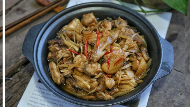 子姜炒鸡,出锅就可以吃上啦