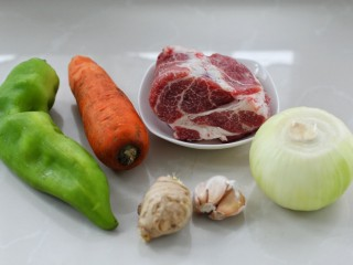 溜肉段,准备好所需主食材