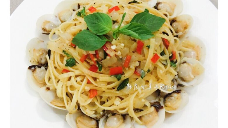 蒜味白酒蛤蜊意大利面