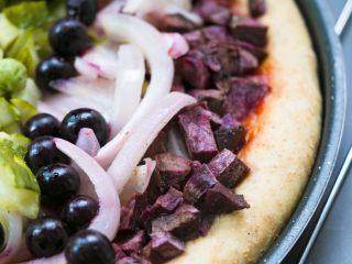 全麦彩虹披萨🌈(无糖无油,减脂增肌必备),绿色部分也可以用西兰花