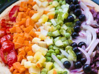 全麦彩虹披萨🌈(无糖无油,减脂增肌必备),好看到疯狂放照片~