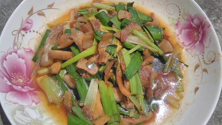 蒜香回锅肉,成品图