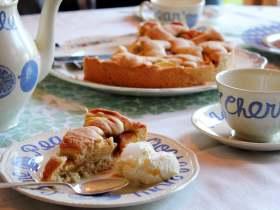 学做苹果蛋糕  做客挪威人家