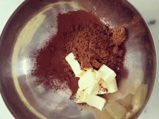 #不一样的泡芙#酷黑的黑森林泡芙,将酥皮脆皮的材料都混到一起