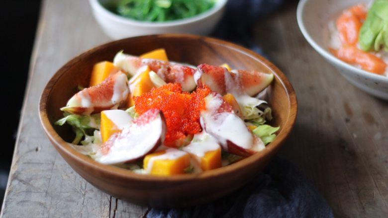 日式无花果飞鱼子沙拉