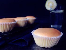 柠檬戚风纸杯蛋糕