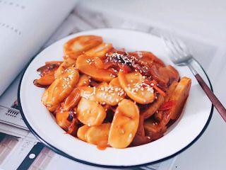 韩式辣炒年糕(纯素)附芝士版本
