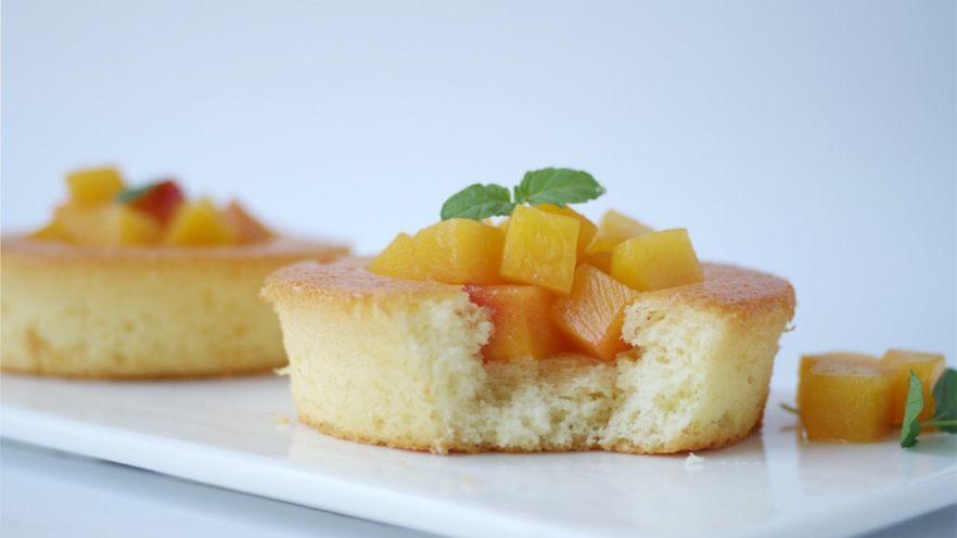 黄桃海绵蛋糕