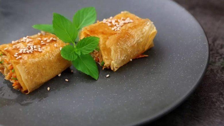 有个省事的招做豆腐皮?我好像瘦不下去了……腐皮杂蔬卷