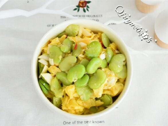 #家常菜大比拼# 鸡蛋蚕豆米