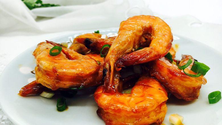 茄汁焖大虾,成品图