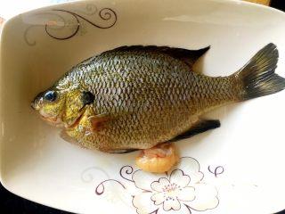 鲜美好吃的清蒸太阳鱼,买鱼的时候菜市场已经把鱼杀好,蒸之前洗干净,沥干水份