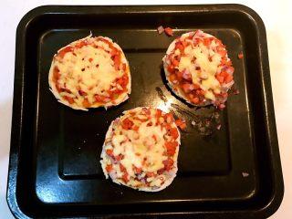 剩馒头的春天  馒头火腿披萨,馒头火腿披萨烤好了