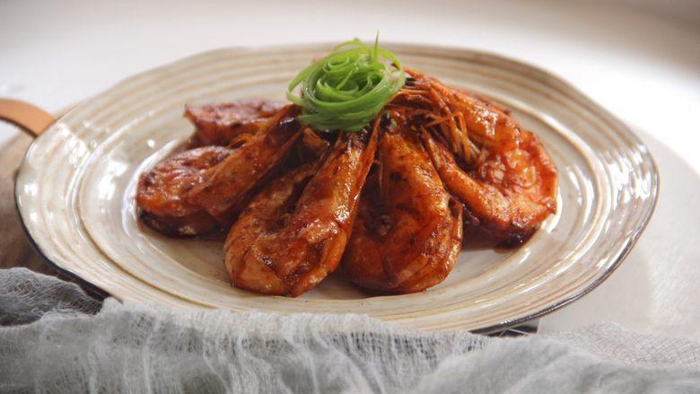 油焖大虾,成品