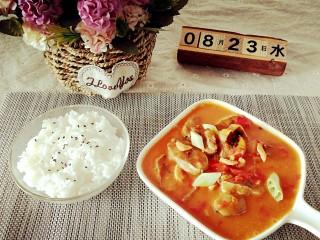 番茄虾仁明太鱼