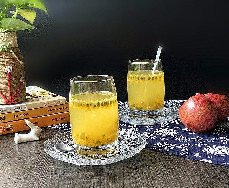 百香果蜂蜜水,趁冰着喝,太爽了