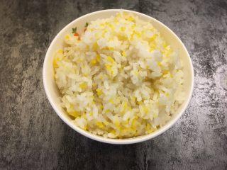 凤尾虾饭团,米饭提前煮熟