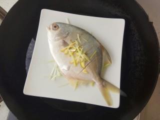 清蒸金昌鱼,开水上锅蒸8-10分钟