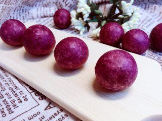 甜蜜紫薯球,最终成品,原谅拍照技术有限!好吃好看,且做法简单!