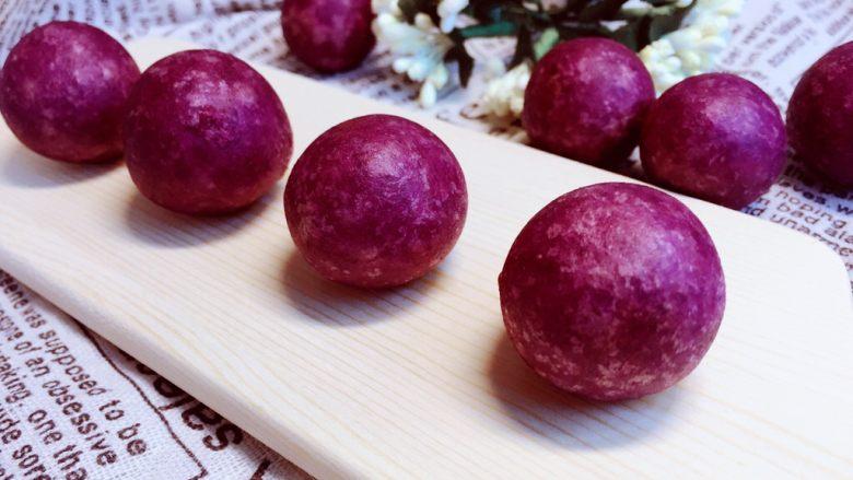甜蜜紫薯球