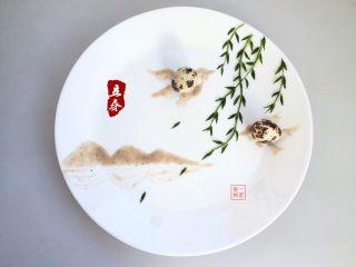 餐盘画——立春,完成的作品