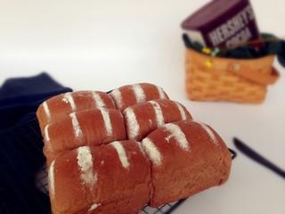 可可味淡奶油面包