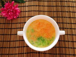 胡萝卜西兰花炖蛋,滴两滴核桃油