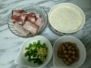 排骨糯米饭,准备食材