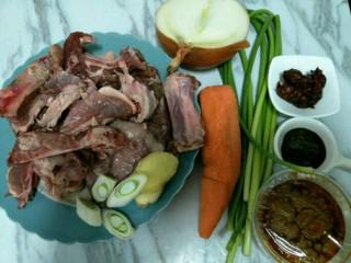 麻辣羊排煲,准备食材