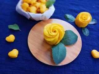 南瓜玫瑰花馒头,成品