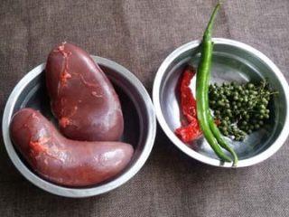 鲜椒炝腰片,原料图片