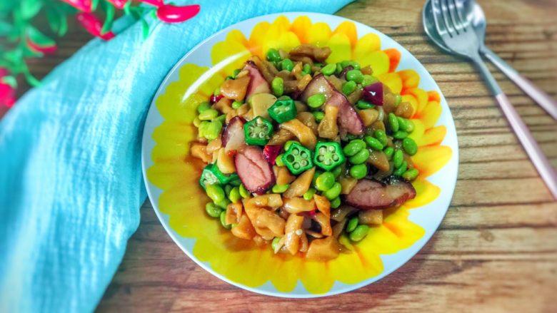 萝卜干毛豆炒腊肉
