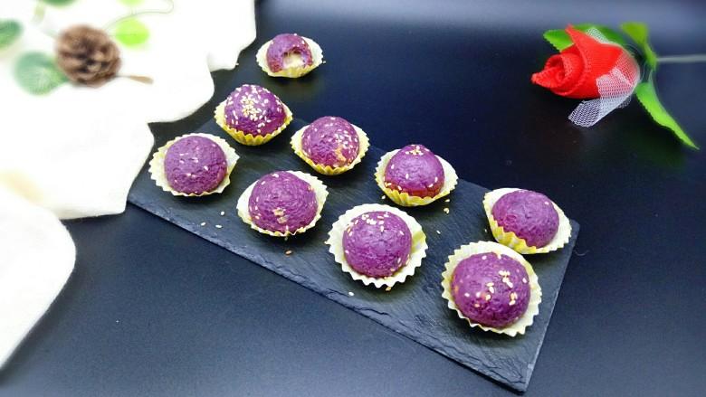 芝士紫薯球#附紫薯泥制作#