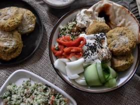 中东风味豆饼营养碗