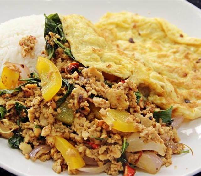 泰国素食罗勒饭