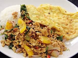 泰国素食罗勒饭,上菜,好好享用!