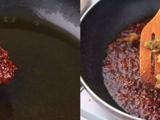 负责任的告诉你,饿的时候看这锅菜能一口气吃2碗饭!? 水煮鲜蔬,热锅起油,加入郫县豆瓣酱炒出香味,加适量榨菜