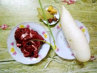 萝卜炖牛腩,准备好食材