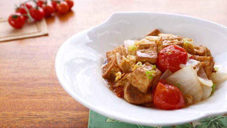 西红柿白菜炒豆腐,成品图一