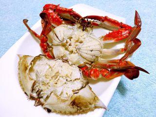 清蒸飞蟹,饱满的蟹膏快要溢出来喽