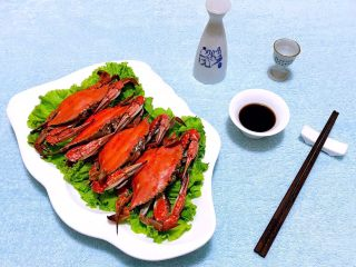 清蒸飞蟹,搭配小白烧别有一番滋味