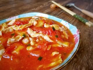 #百搭西红柿# 西红柿炒鸡柳,汤汁很下饭。