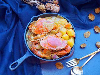 泰式椰浆土豆咖喱蟹,小朋友也爱吃